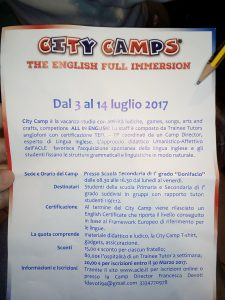 City Camps - The English Full Immersion
